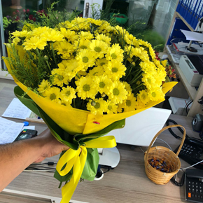 alanya florist Yellow Chrysanthemum Bouquet