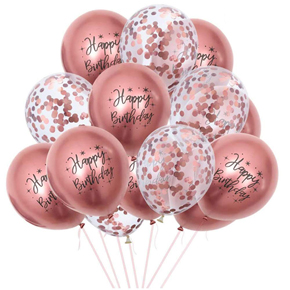 anordnung in der box 15 Balloons for Birthday