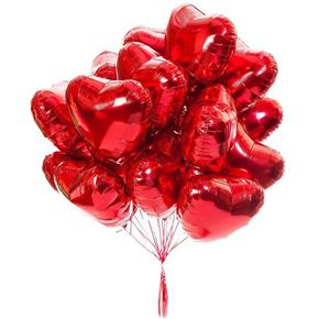 kalite vip flowers 15 Folyo Kalp Balonlar