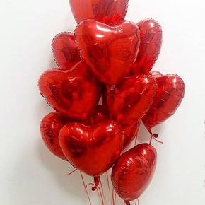 11 foil Heart Ballons