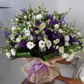 seramikte arajman Фиолетовый и белый Lisyantus.