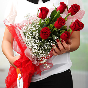 alanya florist A Bouquet Of 7 Red Roses
