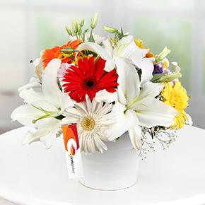 karma Çiçek demeti Seramikte Arajman