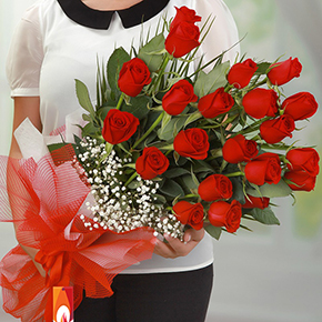 alanya florist 21 Red Roses