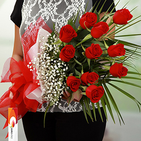 alanya florist 11 Red Rose Bouquet