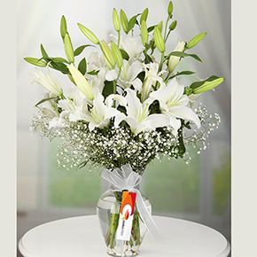 alanya florist Lillies in Vase